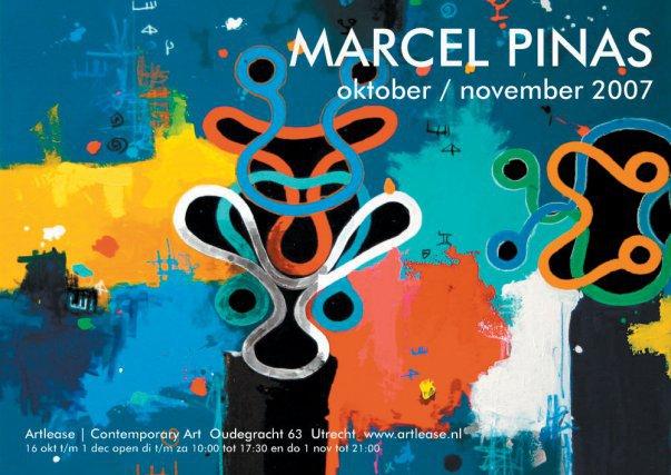 Poster exposition de Marcel Pinas