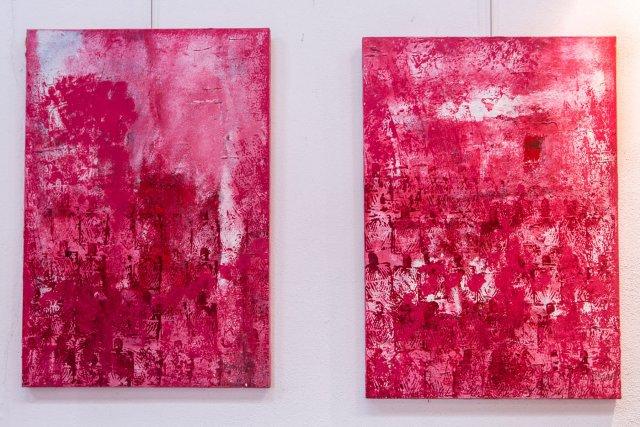 Térouge 1 et 2 Acrylique, 2014.