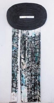 Granguérie n°5. Tissage, acrylique, 2015.