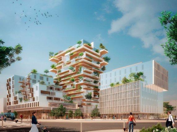 Hypérion - Tour de logements en bois de 50 mètres de hauteur (la plus haute du monde en 2016) / Bordeaux, France / 2019 Crédits des images: