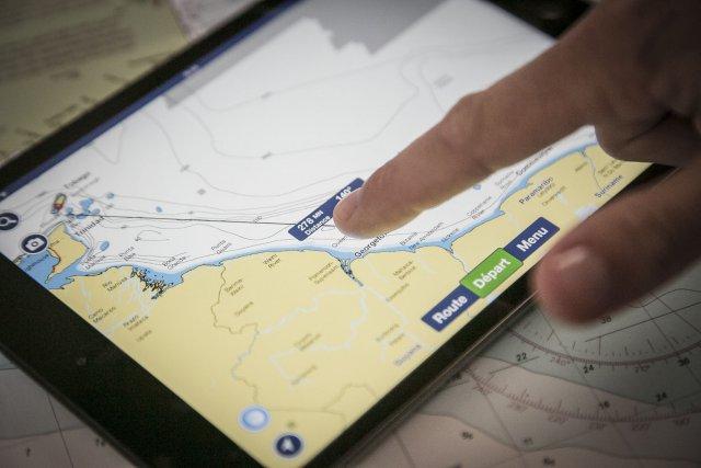 Navigation à l'iPad entre Tobago et l'embouchure du fleuve Essequibo