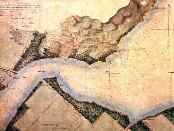 Carte de l'estuaire du Mahury - 1840