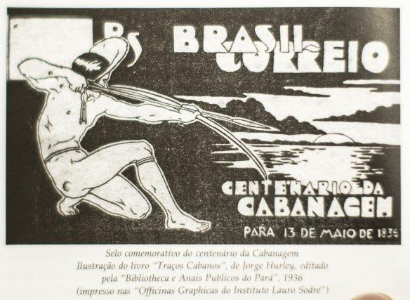 Dessin commémoratif du centenaire de la Cabanagem. Illustration du livre Tracos Cabanos de Jorge Hurley