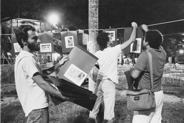 1985 - En action sur l'image: Octávio Cardoso, Mariano Klautau Filho et Eduardo Kalif.