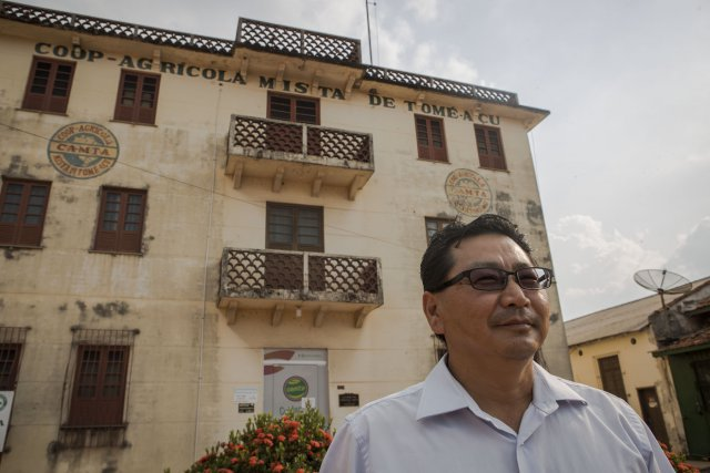Alberto Ke iti Oppata, directeur de la coopérative agricole de Tomé-Açu