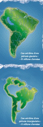 L'Amérique du Sud entre -5 et -10 millions d'années