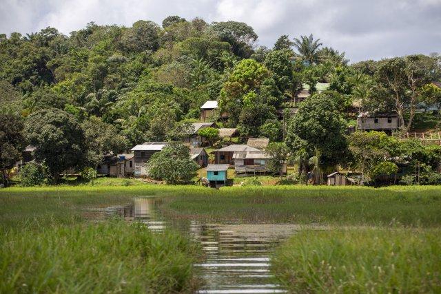 Le village de Espírito santo. Photo de R. Liétar