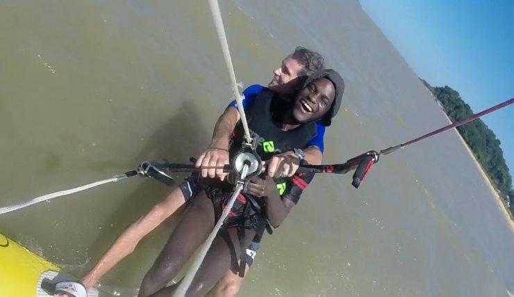Le handikite, un sport plein de promesse, développé en Guyane!
