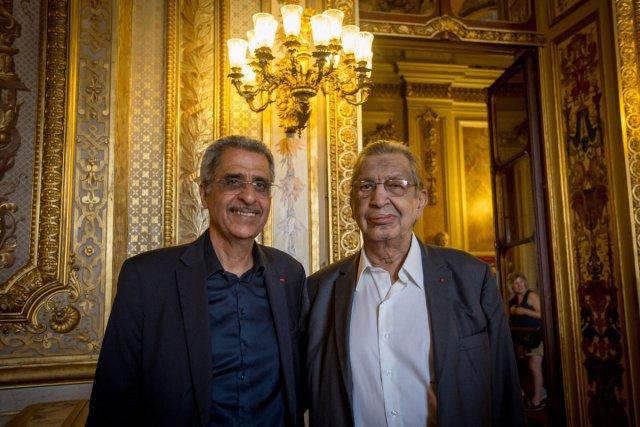 Antoine Karam dans les salons du Senat avec Antoine Sfeir