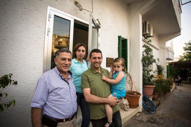 La famille Abchee à Zgortha