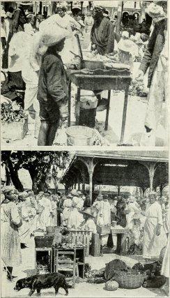 Scènes de marché à Pointe-à-Pitre en 1919. Université de l'Iowa.