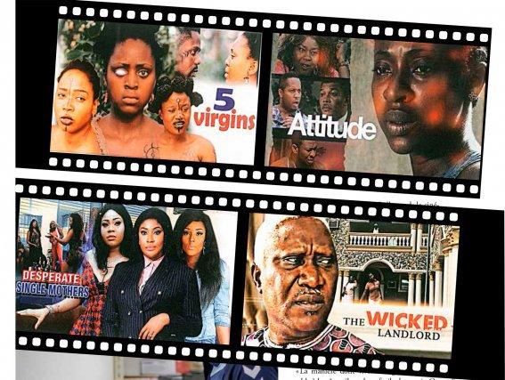 Jaquettes de films nigérians vendus à Paramaribo