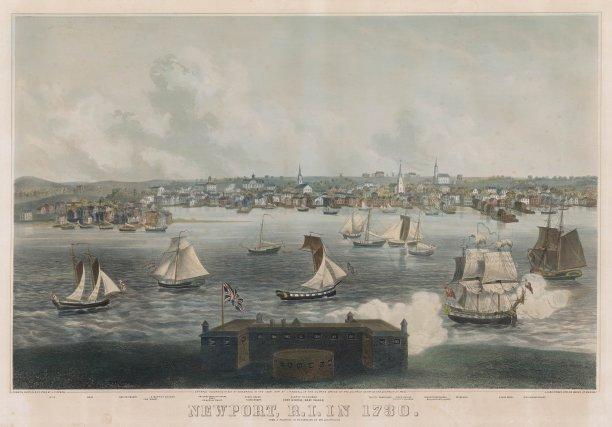 Newport en 1730. Ce port est tout au long du XVIIIe siècle un refuge pour les corsaires et pirates.