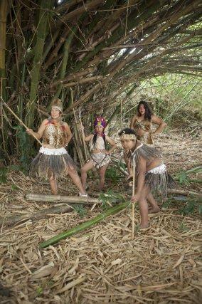 Cunibos au sentier de Montabo. Communauté indigène originaire de Pucallpa, région amazonienne du Pérou.