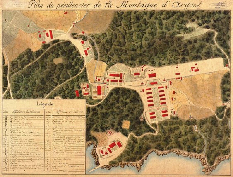 Plan du pénitencier. Vers 1863