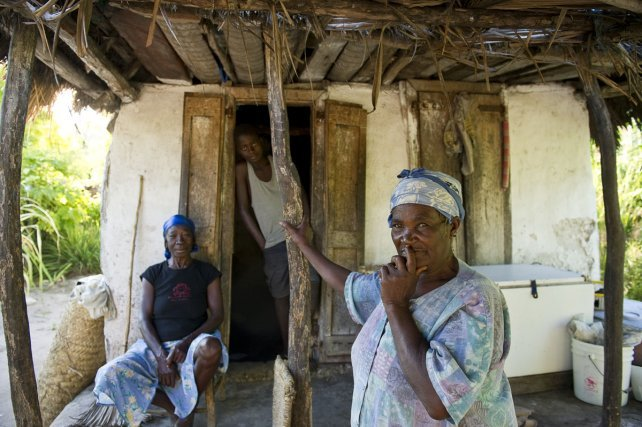 Près de 200 personnes vivent sur l'île de Grosse Caye