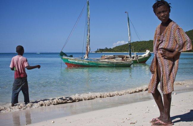L'île de Grosse Caye, en face d'Aquin, (novembre 2011).