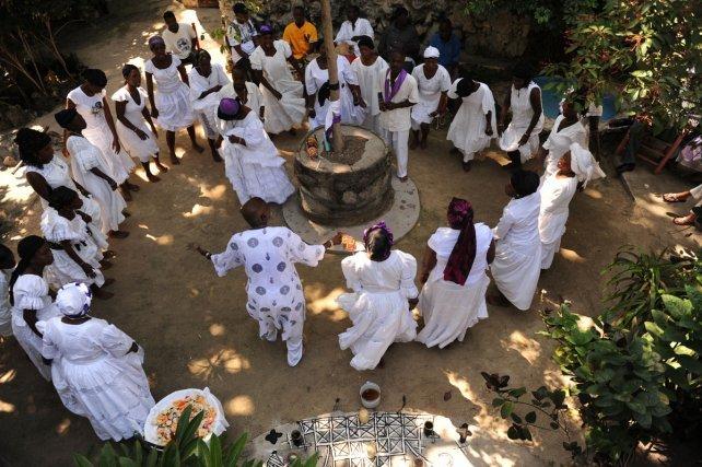 Péristyle de Mariani, Haïti, 1 novembre 2011.