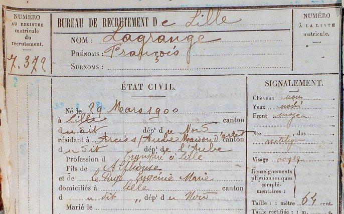 Extrait du dossier Lagrange aux Archives nationales d'outre-mer.