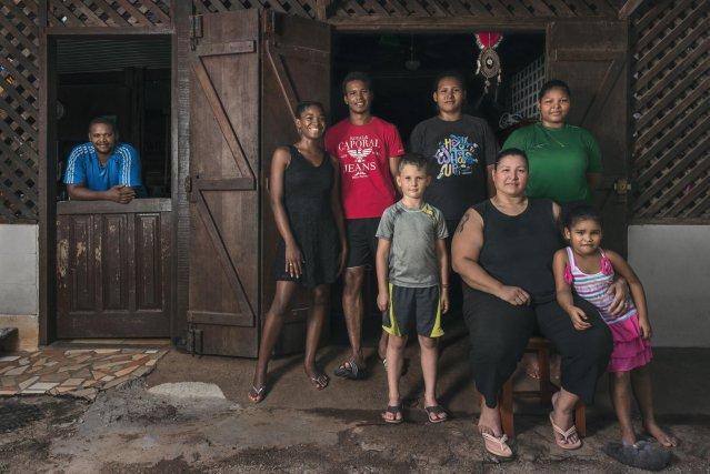 Maya et sa famille, une illustration du métissage à Sainte-Rose de Lima. Décembre 2017.