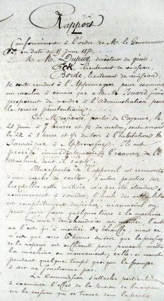 Rapport du capitaine Dupuy sur les machines de La Jamaïque, 24 juin 1870.
