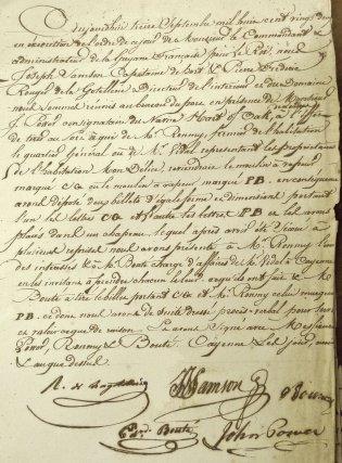 Rapport sur le tirage au sort effectué le 13 septembre 1822 qui attribue la première machine à vapeur de la colonie à Jean Vidal.