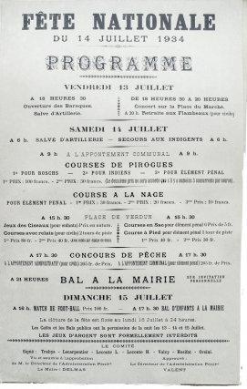 Affiche de 1934