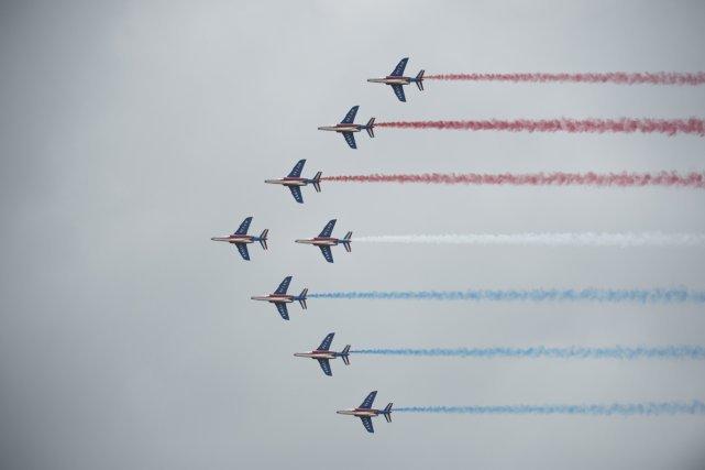 Les Alpha-Jet de la Patrouille acrobatique de France (PAF)
