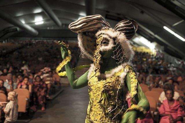 La reine des Pripri couronné par l''Union Régionale des Festivals et Carnaval de Guyane.
