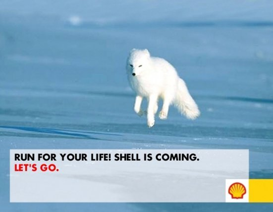 « Sauve qui peut ! Shell arrive »
