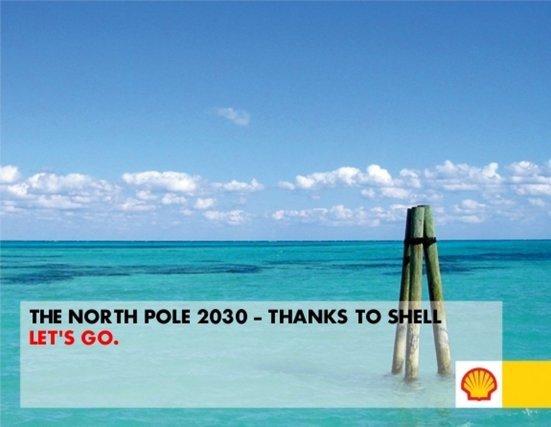 « Le pôle Nord en 2030 - grâce à Shell »