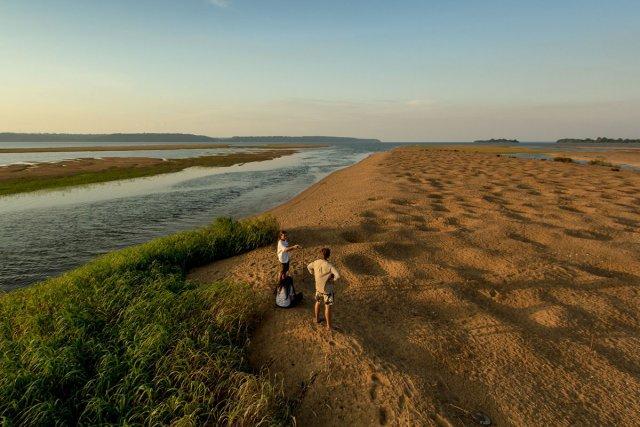 La plage de Juncal au coeur de l'archipel fluvial du <i>Tabuleiro do Embaubal </i>