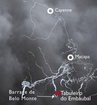L'archipel est situé en aval du méga-barrage de Belo-Monte actuellement en construction.
