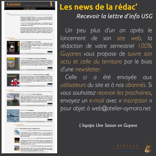 Les news' de la rédac : recevoir la lettre d'info USG