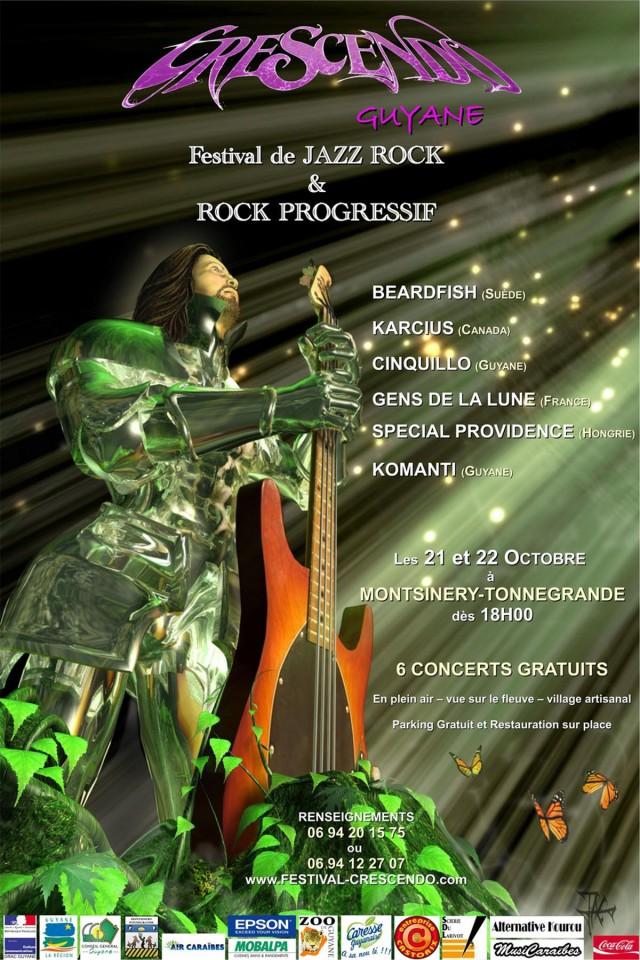 CRESCENDO : 1er festival jazz/rock et rock progressif les 21 et 22 octobre à Montsinéry