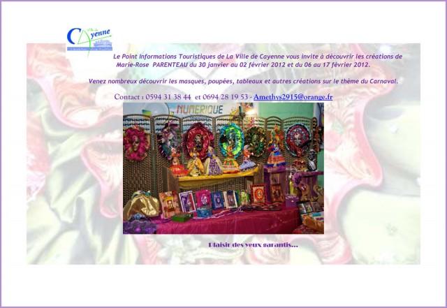 Exposition : Marie-Rose PARENTEAU présente ses oeuvres au PIT de Cayenne