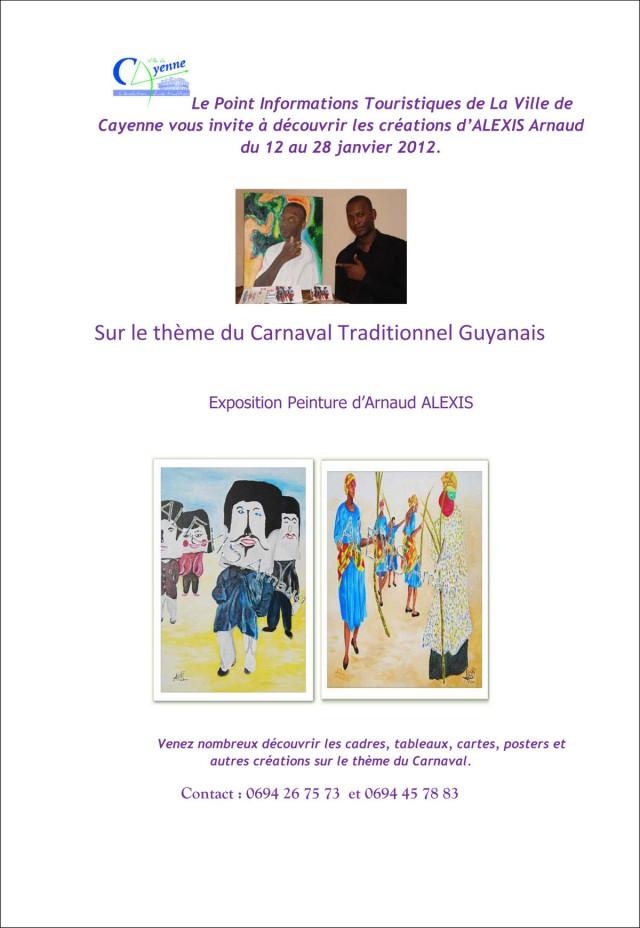Exposition : Arnaud ALEXIS présente ses oeuvres au PIT de Cayenne