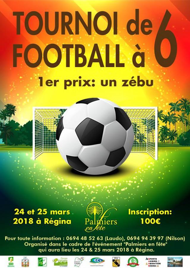 Affiche tournoi de foot Palmiers 2018