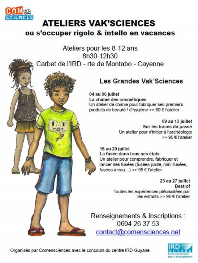 Animation : Ateliers science pour les 8-12 ans à Cayenne du 04 au 27 Juillet
