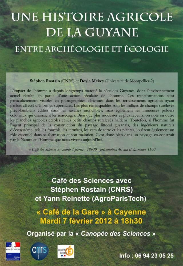 Café des sciences : une histoire agricole de la Guyane
