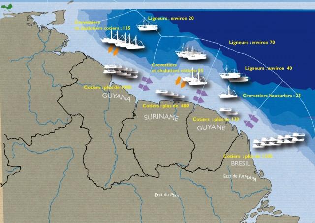 PECHE : Les flottilles des Guyanes