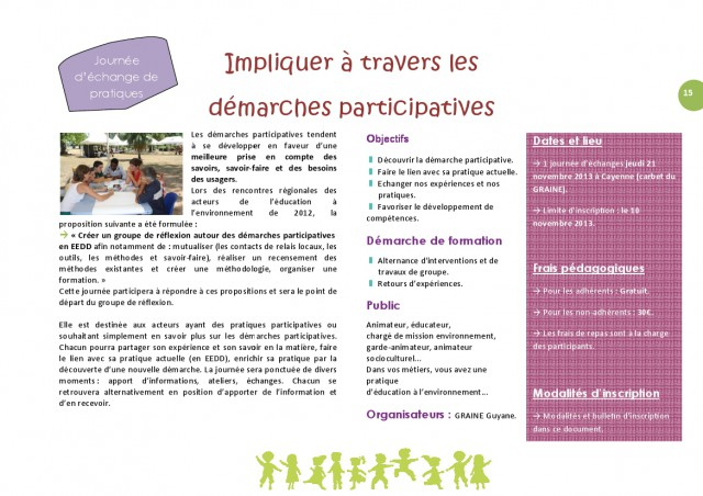 """Journée d'Echanges de Pratiques """" Impliquer à travers les démarches participatives"""""""