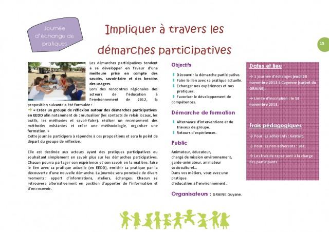 """Journée d'Echanges de Pratiques (JEP) : """" Impliquer au travers des démarches participatives"""""""