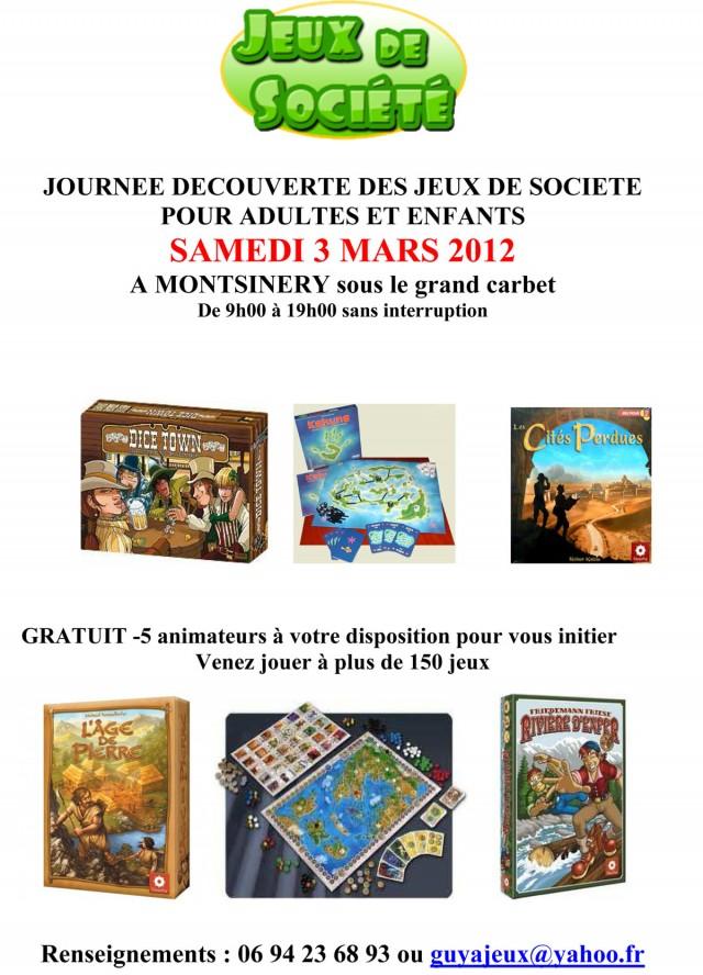 JEUX DE SOCIETE : journée de découverte pour adultes et enfants