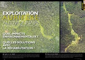 Exploitation aurifère alluvionnaire légale : en Guyane française