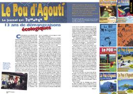 Le Pou d'Agouti,le journal qui démange: 13 ans de démangeaisons écologiques
