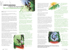 Conte Saramaka : Die  woto u Halakwakwa ku GaniyaL' abattis de Coq et Cafard