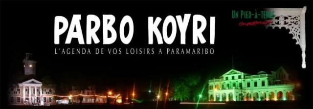 Parbo Koyri : Agenda 2013 à Paramaribo