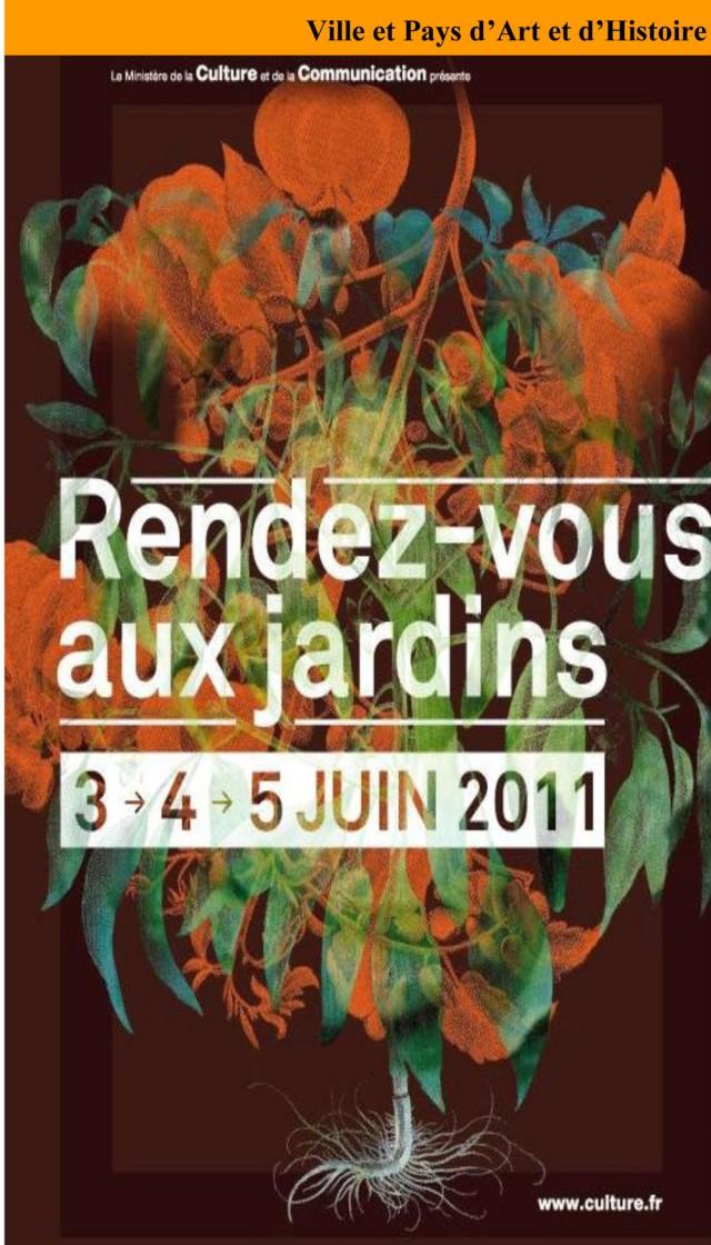 Patrimoine : Rendez-vous aux jardins les 3, 4 et 5 juin à St Laurent