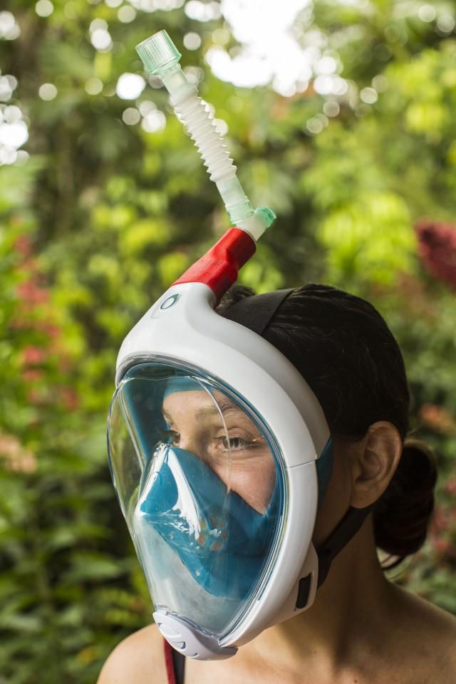 L'association Guyane Tech développe avec le CHC : des adaptateurs inédits pour les masques Easybreath de Décathlon